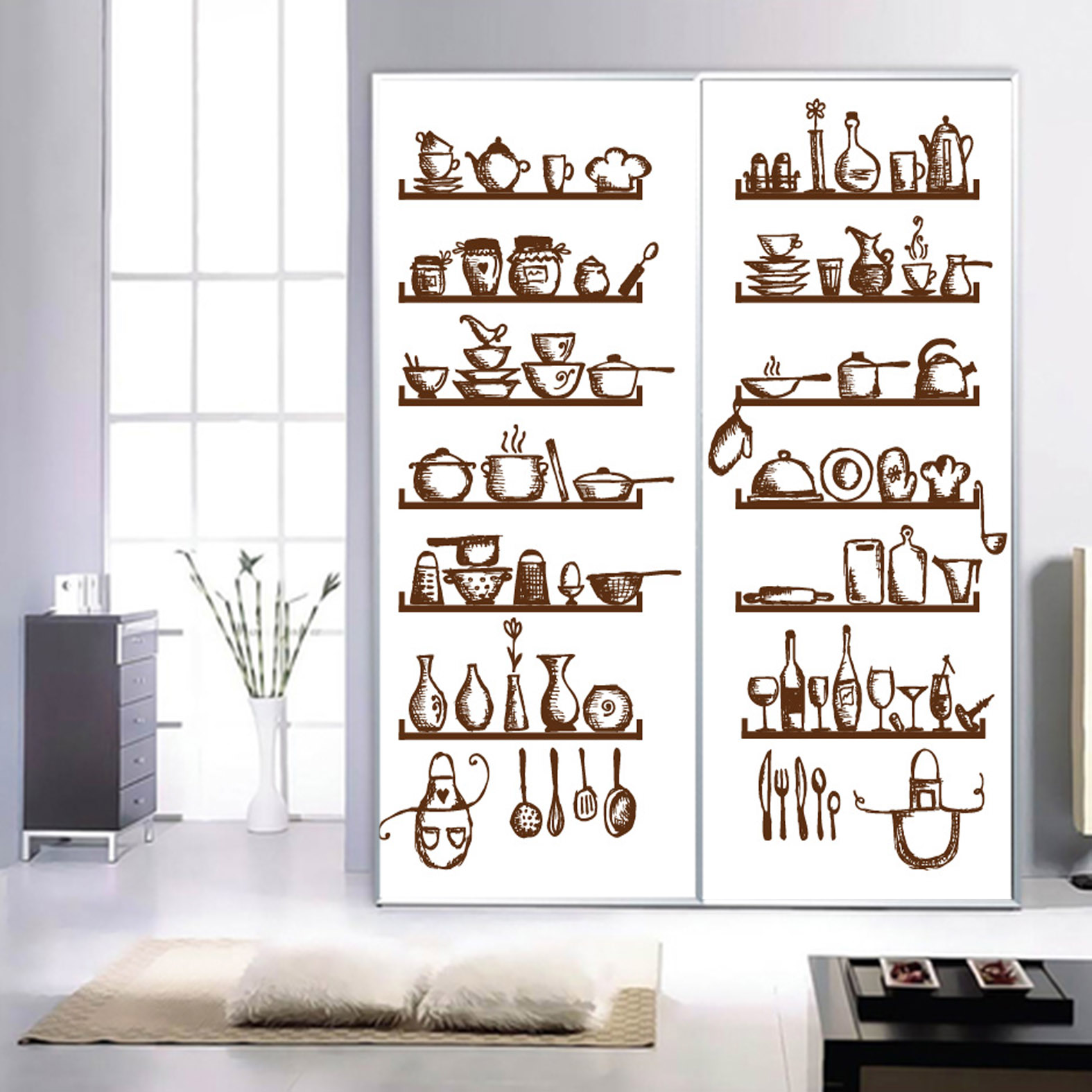Buy Custom Glass Film Porch Window Stickers Fridge Magnet Oil