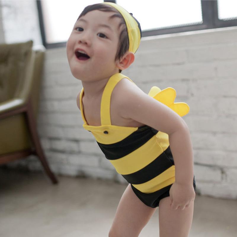 acdd7399d49f3 Buy Cute little bee piece swimsuit children swimwear baby boys and girls  baby swimwear swimsuit general in Cheap Price on m.alibaba.com
