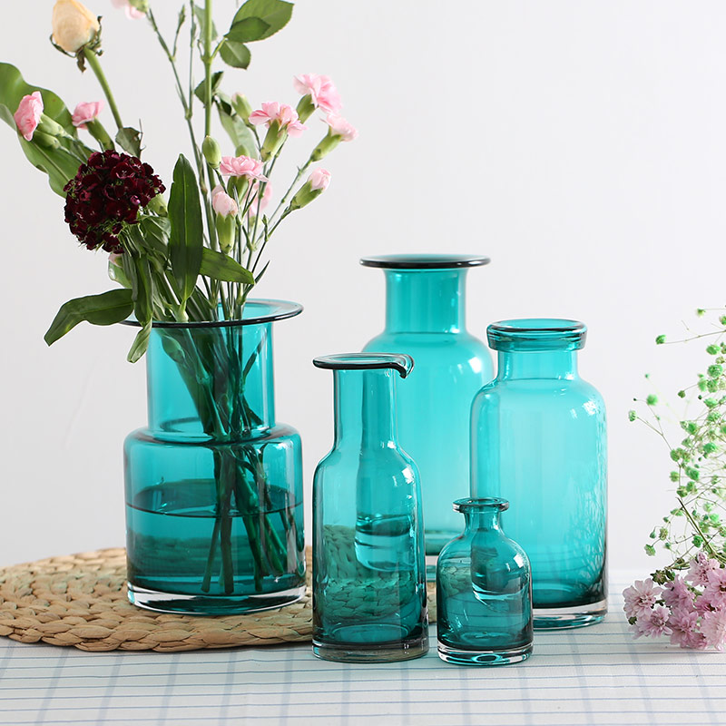 Buy Decorative Glass Bottles Transparent Colored Glass Ornaments