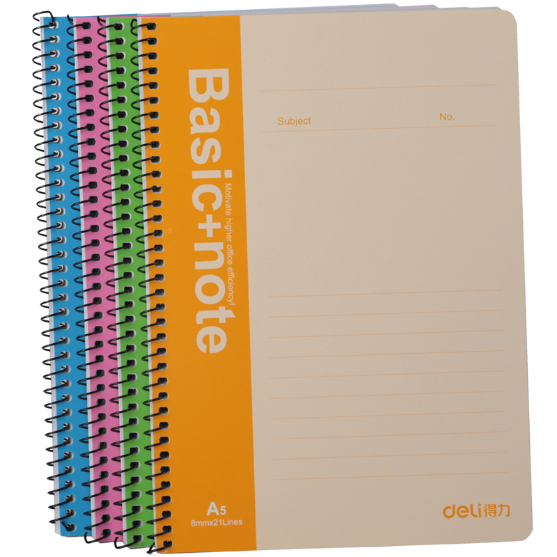 buy deli 7683 spiral notebook soft surface stationery 60 page diary