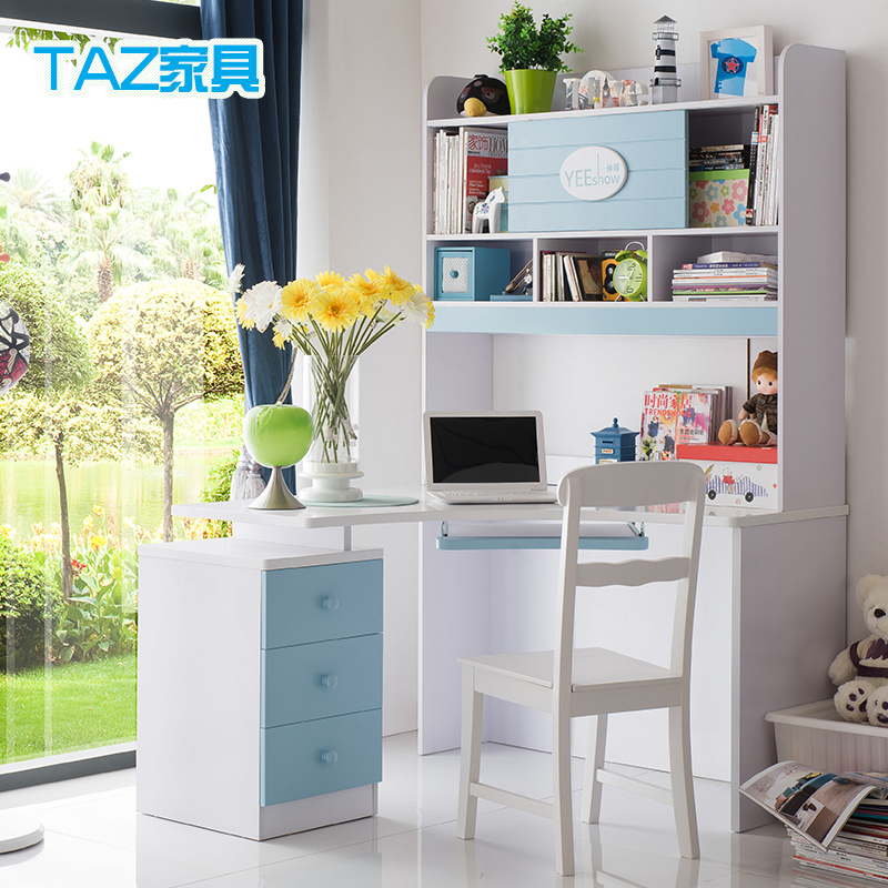 Buy Desk Study Tables For Children To Learn Tables Boys Girls Turn The  Corner Of The Computer Desk With Bookcase Desk Combination Study In Cheap  Price On ...