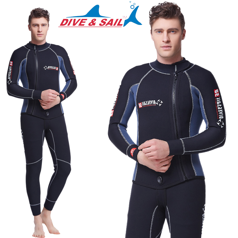 7b2a28c954f Buy Dive & sail thick deep warm split wetsuit wetsuit men and 5MM suits  long sleeve wetsuit sunscreen in Cheap Price on m.alibaba.com