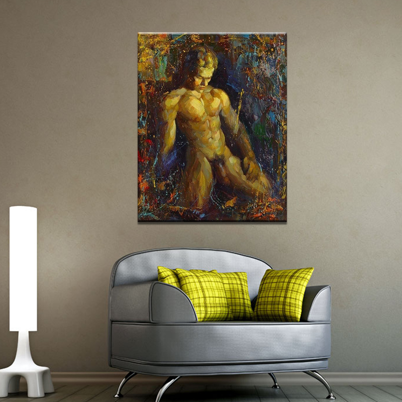 Buy Euclidian male hotel bedroom mural paintings painted ...