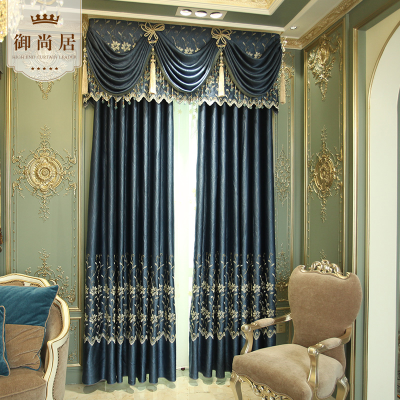 Buy European luxury atmosphere blackout curtain fabric curtains ...