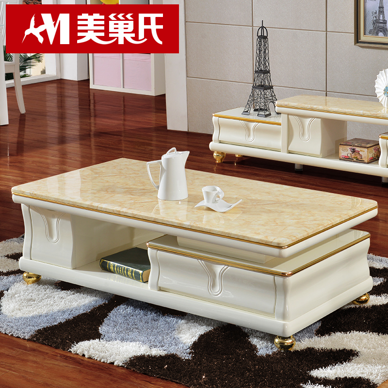 Buy European Marble Coffee Table Tv Cabinet Combination Of ...