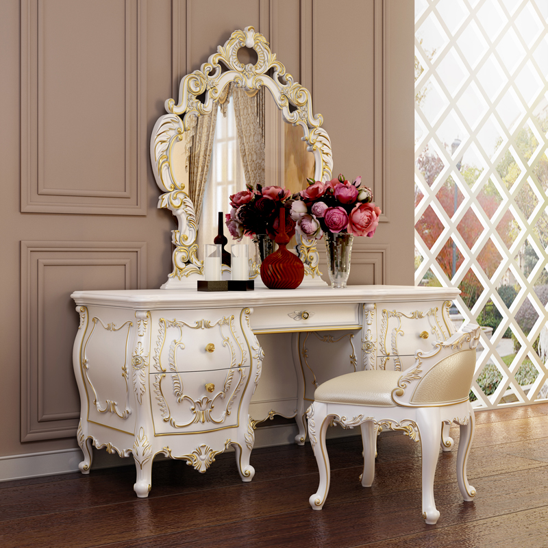 Charmant Buy European Solid Wood Dresser Dresser Combination Of French Luxury  Upscale Suite Bedroom Furniture Dressing Table Mirror Makeup Makeup Stool  In Cheap ...