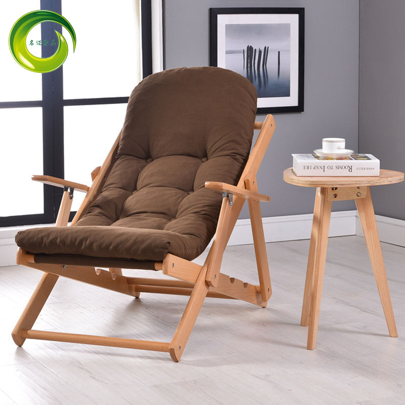 Buy Fabric Wood Chairs Office Lunch Siesta Chair Lounge Chair Balcony Futon  Sofa Beanbag Chair Folding Single In Cheap Price On M.alibaba.com