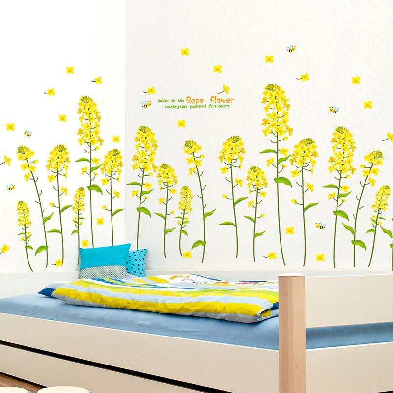 Buy Flower Garden Bedroom Living Room Wall Stickers Decorative Wall