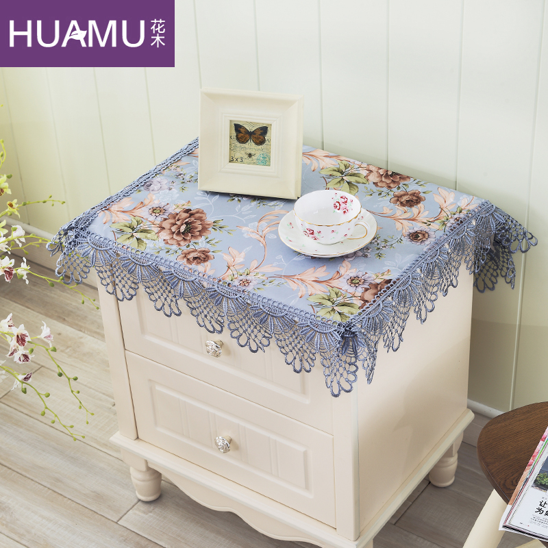 Buy Bedside table cloth cover towel pastoral cover european lace