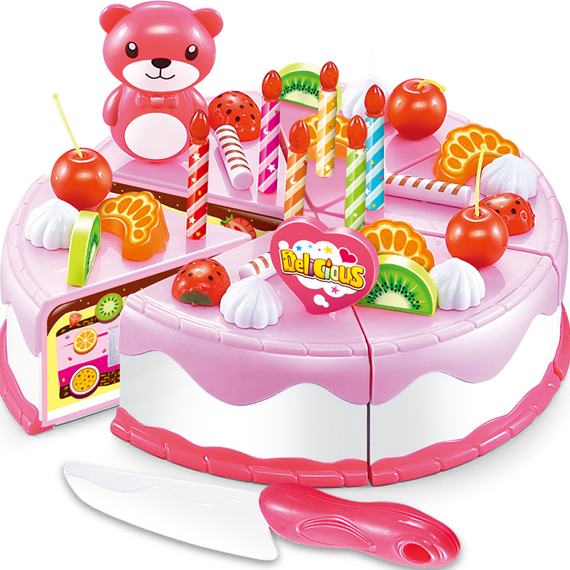 Buy For Children Earnest Music Fruit Honestly Happy To See The Little Girl Birthday Cake Toy Play House Simulation Kitchen Toys Baby In Cheap Price