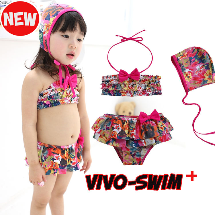 e244dc50cf Free shipping korean children bikini swimsuit girls bikini swimsuit baby  swimwear children s swimwear children