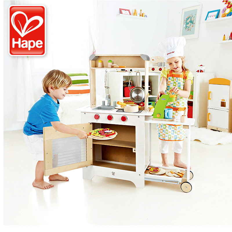 Germany Hape Play House Toy Kitchen Diner High Simulation Of Children Aged  3 6 Years Old Wooden Toys For Children 5 Years Of Age
