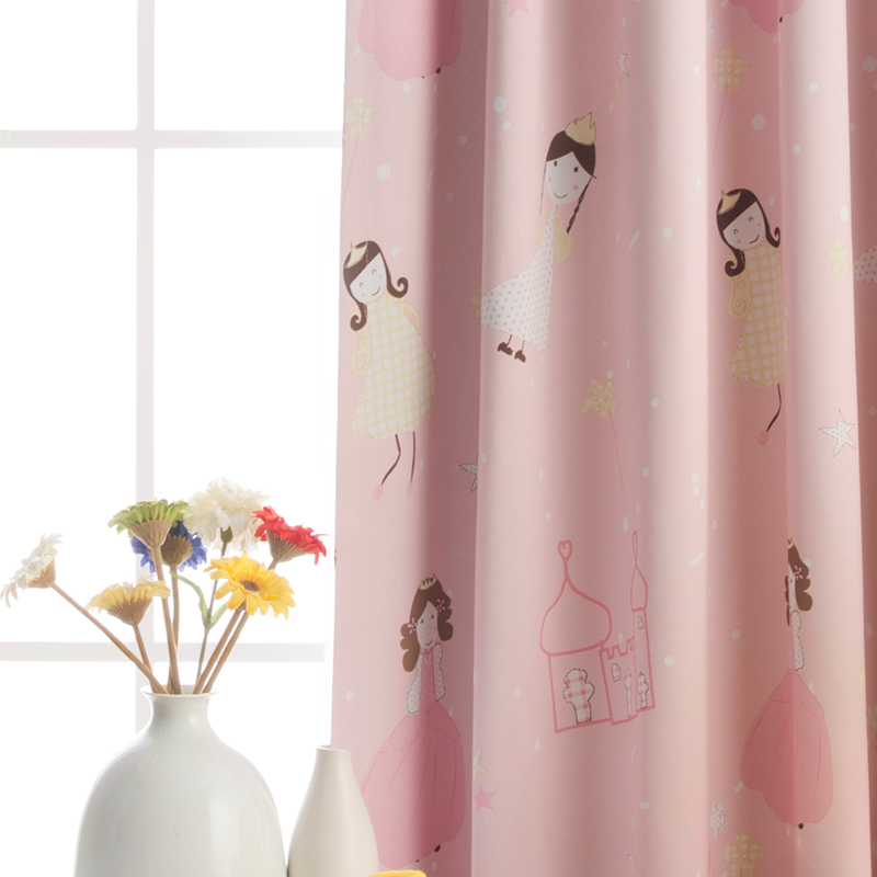 Buy Girls pink princess room curtains blackout curtains ...