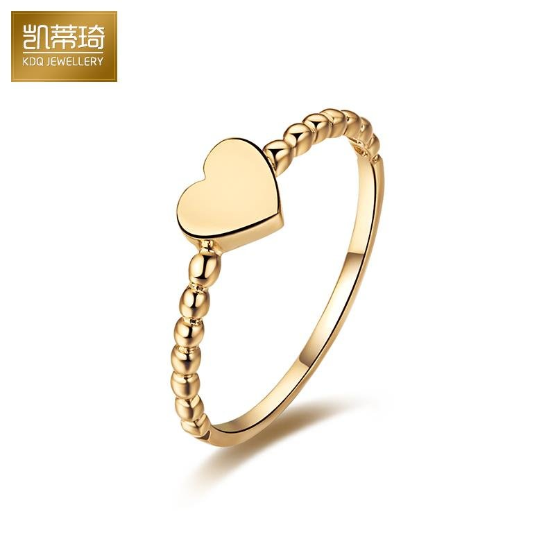 f4305a9b4 Hello kitty kay jewelry k gold heart ring korean version of the platinum  rose gold color gold gold rings female models au750