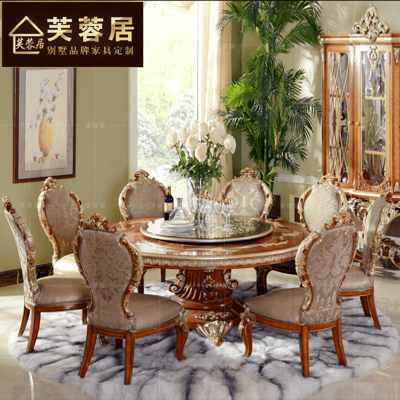 Buy Hibiscus Habitat Villa Custom Furniture Dinette Combination Of European Solid Wood Dining Chairs Upscale Table Wine In Cheap Price On Malibaba