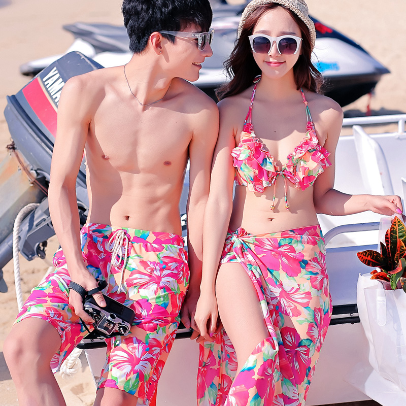 9160bd198e Recommended For You. Hottinger lovers swimsuit bikini three sets of 2015  new lovers beach lovers seaside beach pants swimwear