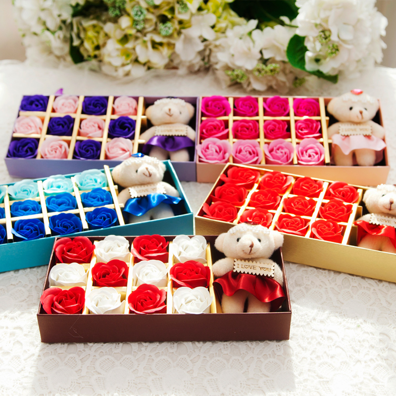 Buy Husband And Wife Rose Soap Flower Gift Ideas To Send His Girlfriend A Surprise Birthday Gift Valentines Day Flower Soap Gift In Cheap Price On Alibaba Com