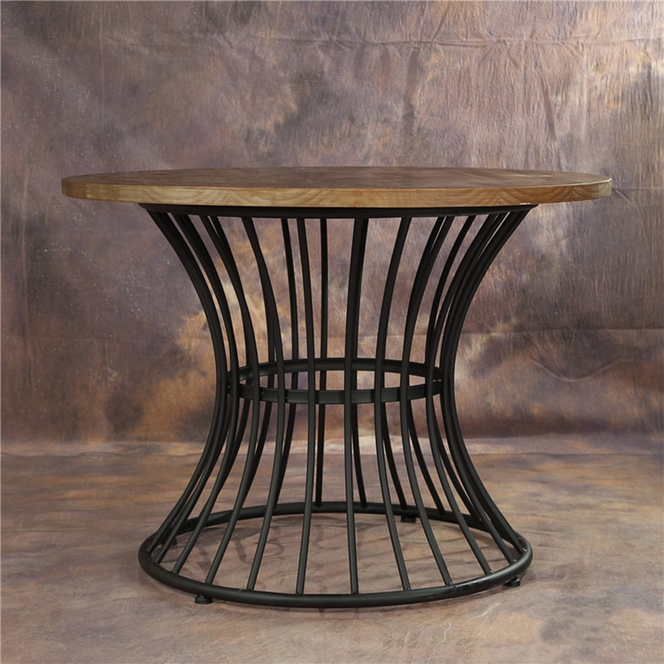 Wrought Iron Round Table.Buy I Love The American Vintage Wrought Iron Wood Dining Table Large