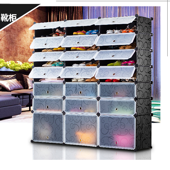 Buy If Sri Lanka Simple Shoe Cabinet Multilayer Shoe Shoe Shoe Shoe  Combination Of Plastic Resins Household Shoe Door Entrance Door In Cheap  Price On ...
