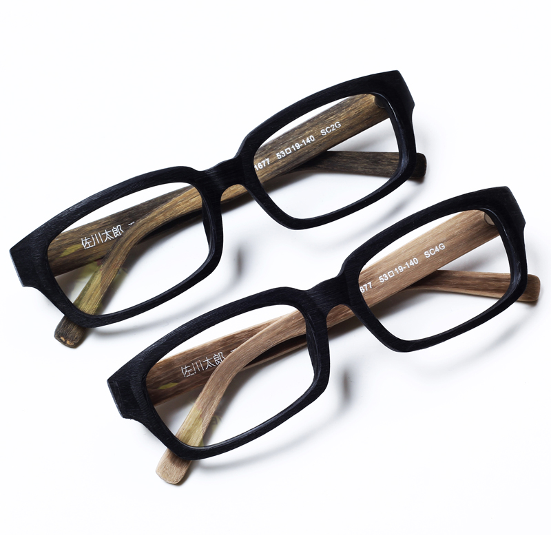 5ad1ea9027cda Imitation wood grain with myopia frame glasses tide male female retro  glasses frame eyes flat everbright face radiation glasses