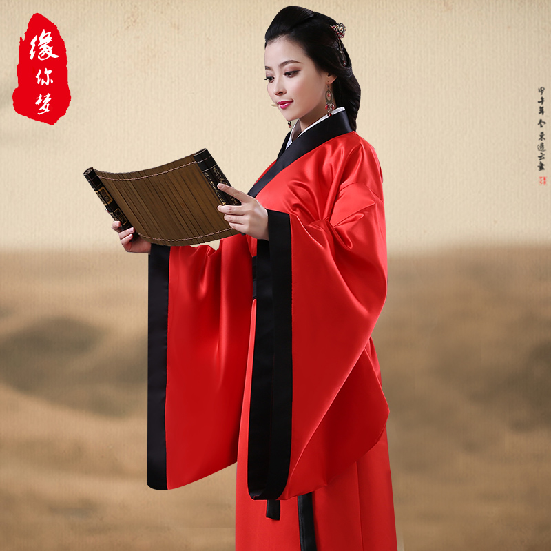improvement of chinese clothing costume costume costume female national red song garment dark clothing clothing studio portrait stage play out