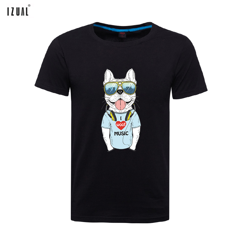b446e0b37fa Izual stroke children summer tide brand men s jackets men short sleeve t-shirt  sleeve large size printed cotton round neck personality