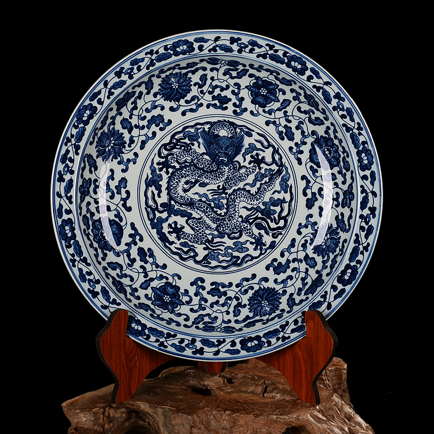 Buy Jingdezhen Ceramics Boutique Painted Antique Blue And White Porcelain Plate Hanging Wagner Soaring Wall Home In Cheap Price On M Alibaba Com