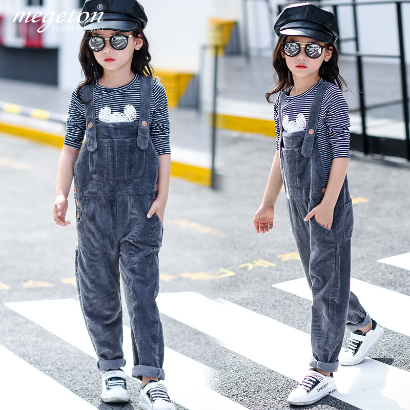 ea3eb76b093 Buy Kids 2016 new autumn girls corduroy overalls thick long pants casual  korean version of the small child harness in Cheap Price on m.alibaba.com