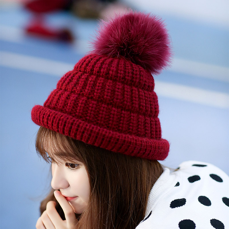 97de3020e82 Buy Knitted wool hat female winter korean cute student badminton thick warm  hedging pointy hat cap autumn and winter in Cheap Price on m.alibaba.com