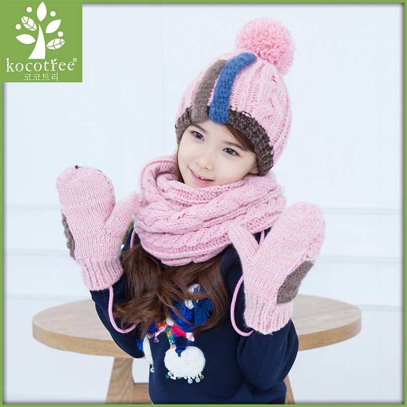 Buy Korea kk tree baby hats scarves gloves three sets of hand sets of children  fall and winter hat scarf suit fashion tide in Cheap Price on m.alibaba.com 209b1b69395b