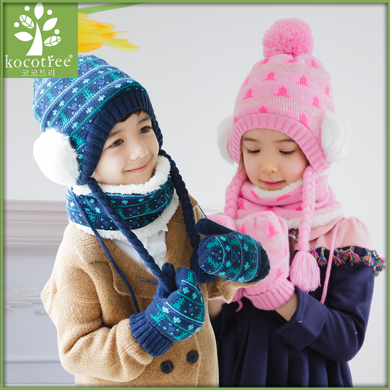 7741e5ccbd9 Buy Korean children hat scarf gloves three sets of boys and girls dongkuan baby  warm winter one suit in Cheap Price on m.alibaba.com
