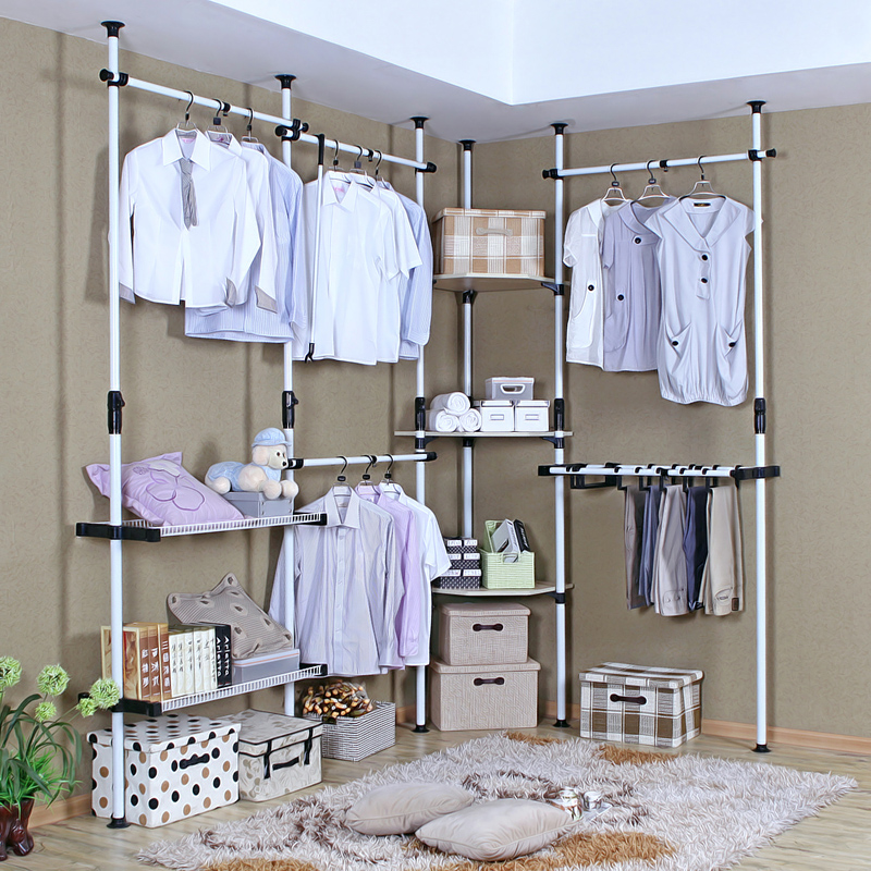 Buy Korean Simple Wardrobe Closet Storage Lockers Open Minimalist Finishing  Assembly Wardrobe Hanging Wardrobe Cabinet Metal Cabinet Corner In Cheap  Price ...