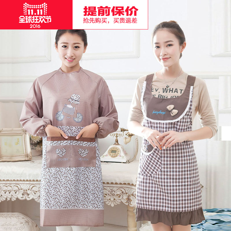Buy Korean Version Of The Simple Fashion Cute Apron Kitchen Aprons