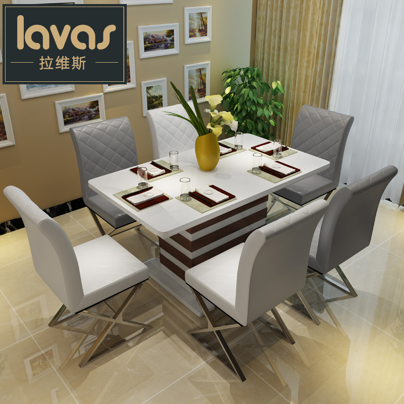 Buy Fen chi apartment size dining table mediterranean ...