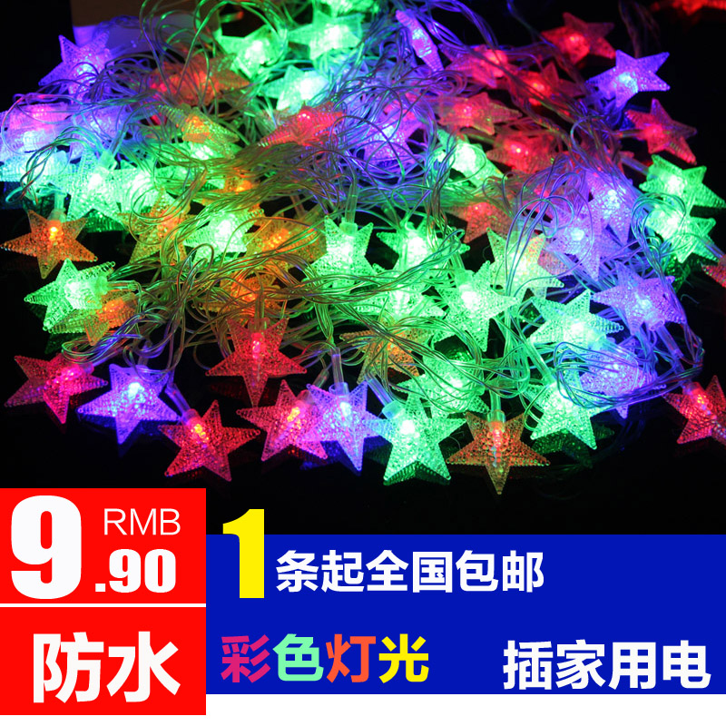Led Lights Flashing Christmas Festive Wedding Decorative Holiday String Starry Neon In Price On