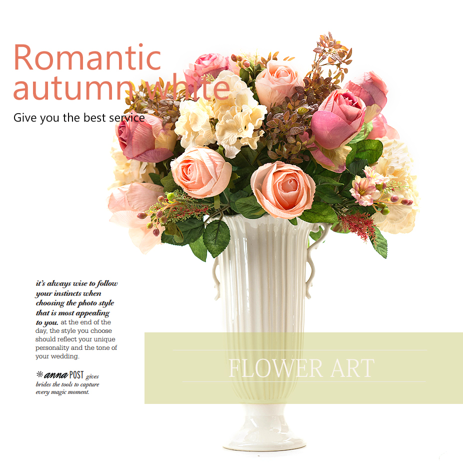 Buy Light Yixuan Artificial Flowers Artificial Flowers Pink Roses