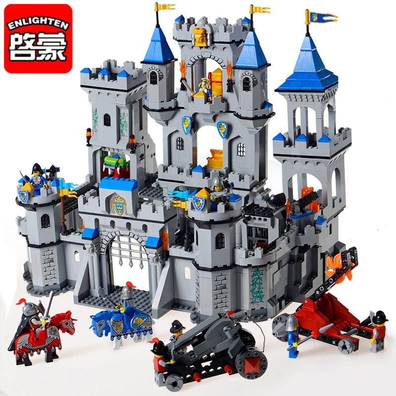 Lion Castle Building Blocks Enlightenment Assembled Toy Military Boy Childrens Educational Toys Intelligence 7 8 10 12 Years Old