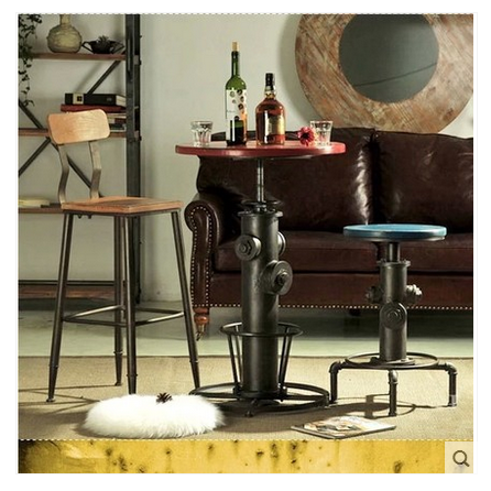 Loft American Iron Wood Bar Table Coffee Tables And Chairs Do The Old Stools Retro In Price On M Alibaba
