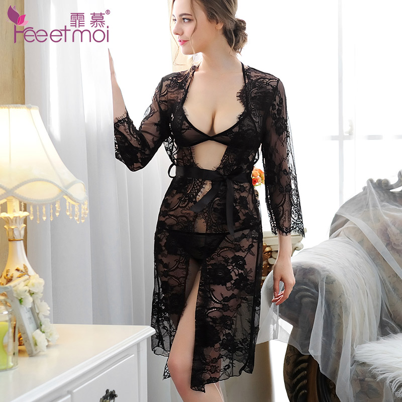 1ac9ee17ade Buy Long section of ms. temptation transparent nightgown pajamas ...