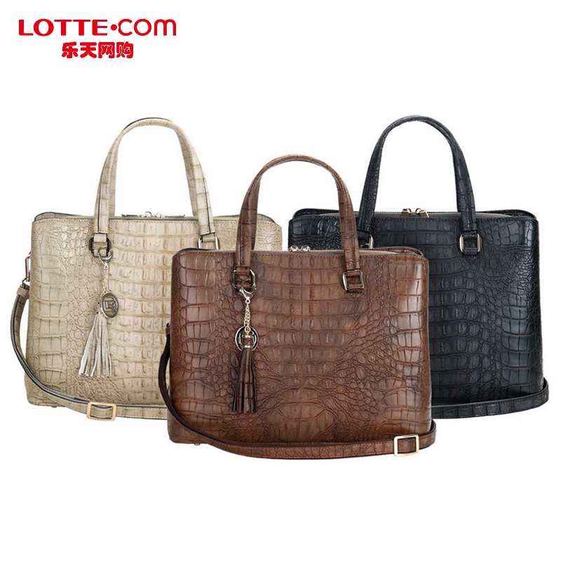 Lotte Ping Online Guy Laroche Crocodile Pattern Handbag Shoulder Bag Minimalist British South Korea Is The Goods In Price On
