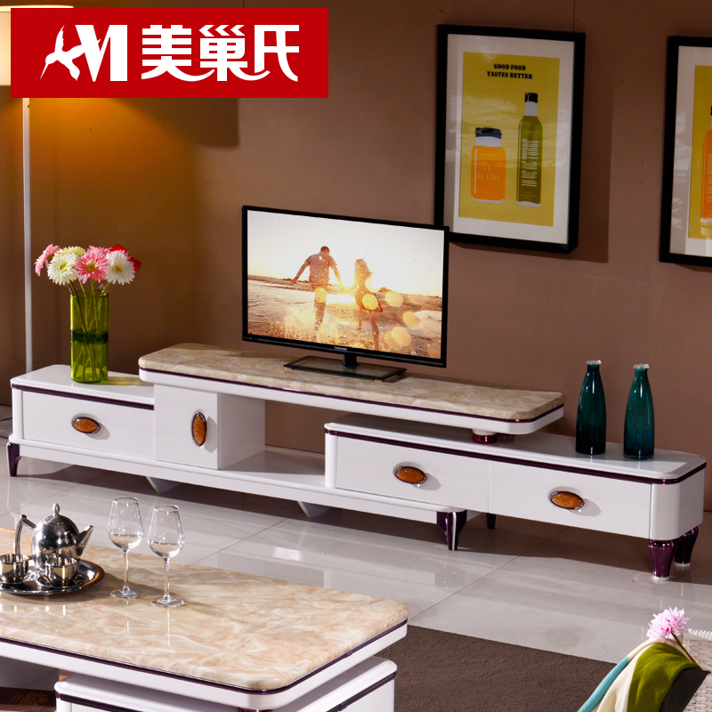 Buy Pre lin scandinavian furniture retractable tv cabinet tv cabinet