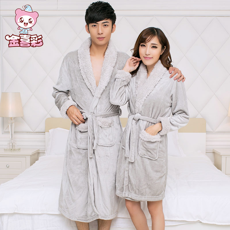 ea995658ac Buy Maywood sheep in autumn and winter flannel nightgown male couple ms.  simple robe bathrobe coral velvet tracksuit in Cheap Price on m.alibaba.com