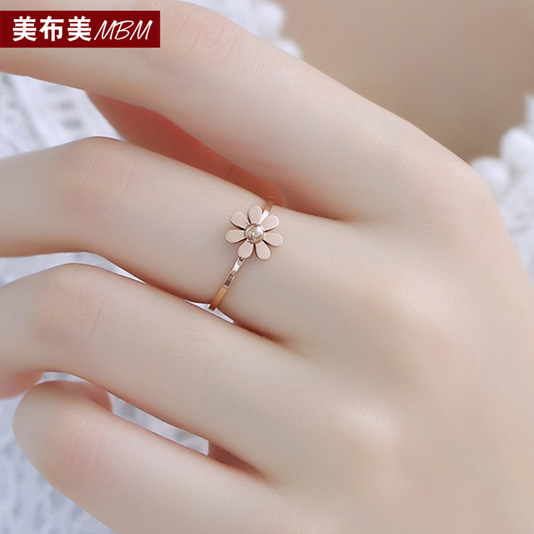 Buy Mei mei cloth k rose gold plated black clover necklace female