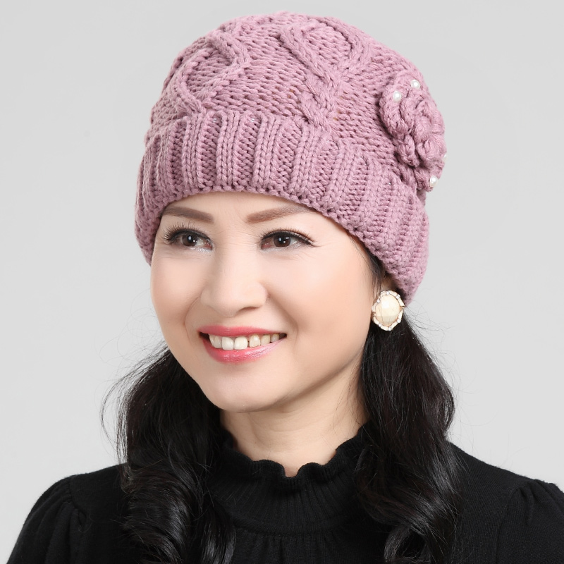 438e36e76 Buy Middle-aged ladies autumn and winter hat winter warm wool hat ...