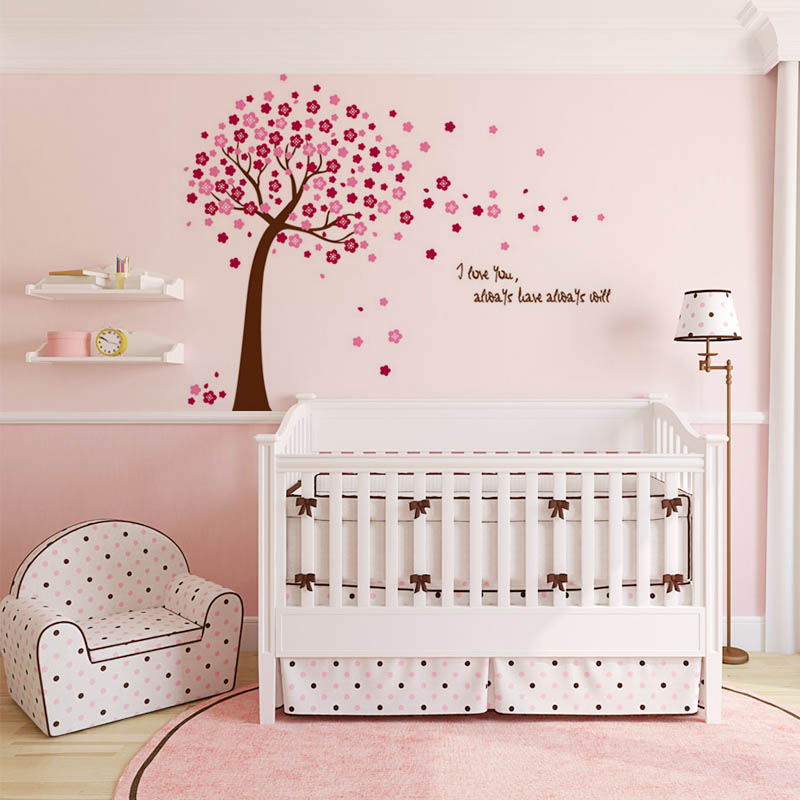 Buy Modern Home Decorative Wall Painting Pink Peach Tree Quality Pvc