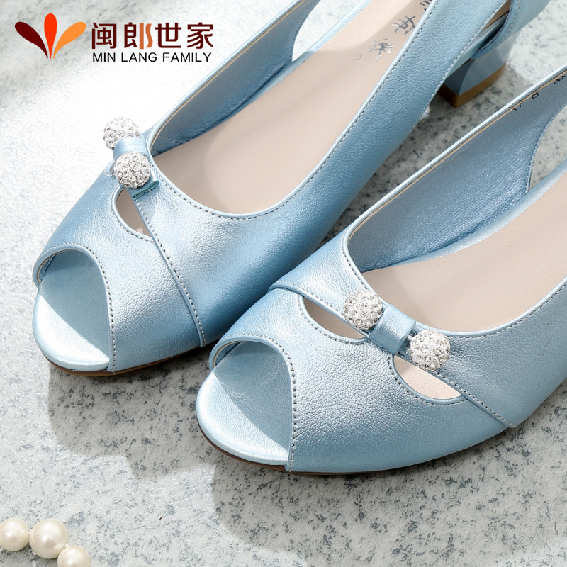 f5bcfb1a2b3 Buy Mom leather sandals soft bottom middle-aged middle-aged women sandals  fish head sandals women shoes with her mother in the elderly soft bottom  sandals ...