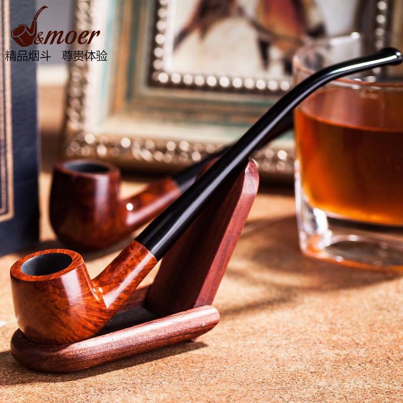 Buy Moore classic handmade briar pipe tobacco bucket smoking