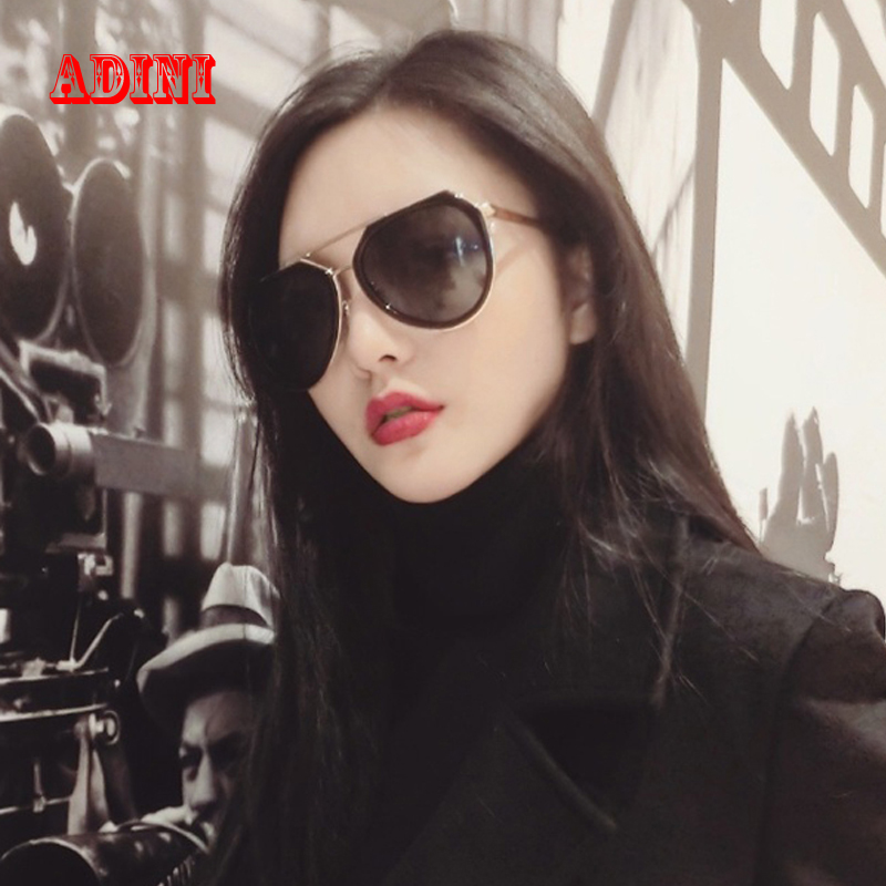 5e871bcf94 Color film polarized sunglasses female tide big box retro sunglasses  polarized sunglasses drivers driving mirror sunglasses with a degree of  myopia