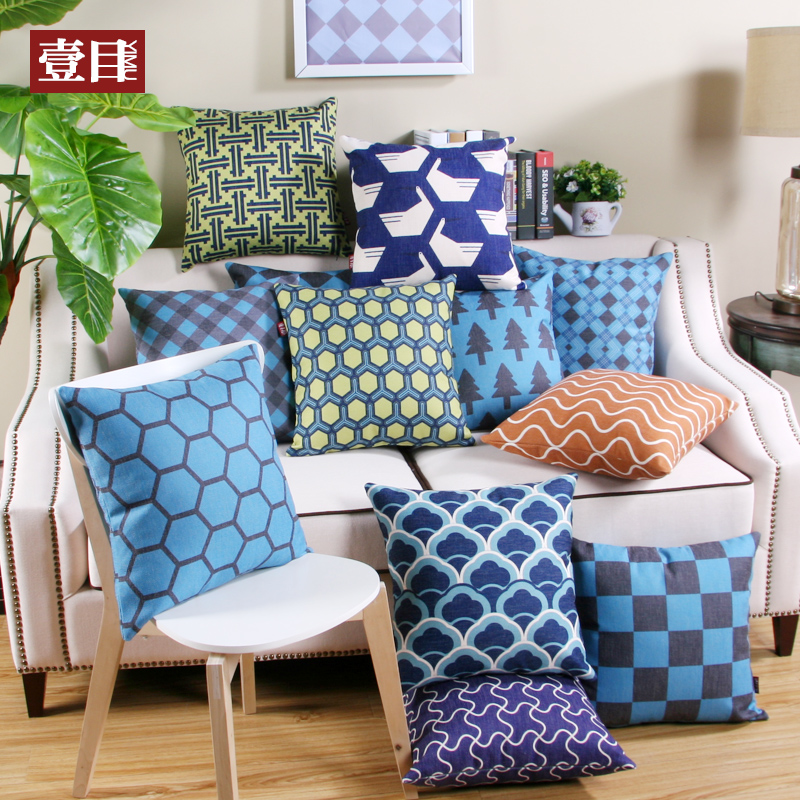 Buy Nordic Style Geometric Pattern Printing Large Sofa Cushion Pillow  Cotton Pillow Cushions Hold Pillow Cushion Covers Custom In Cheap Price On  M.alibaba. ...