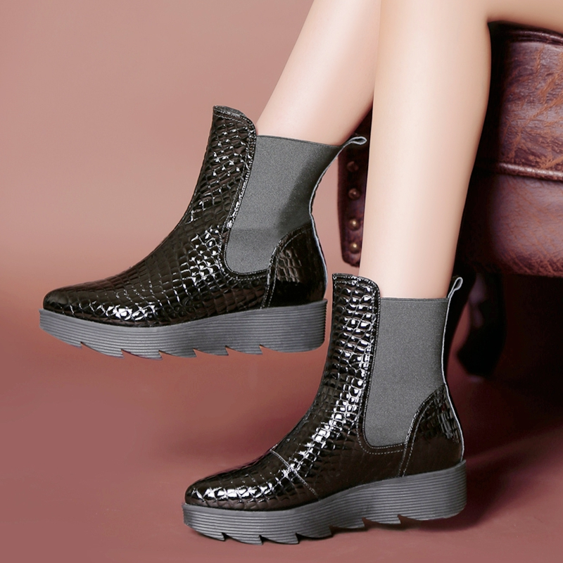 bcf2be7e51b3 Buy Old movies short boots women muffin with boots martin boots with flat  heel boots boots boots low heel boots stone grain cow leather Women  39 s  boots in ...